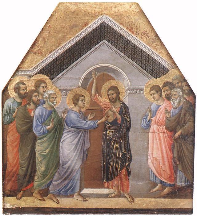 Incredulità di San Tommaso, 1308 di Duccio Di Buoninsegna (1255 ...
